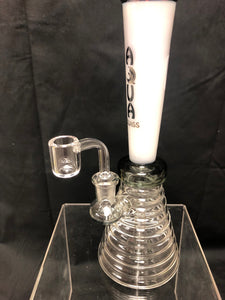Aqua Glass Bong with Banger