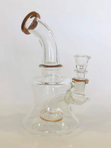 "Ams Glass 7"" Rig with Showerhead Down Stem"