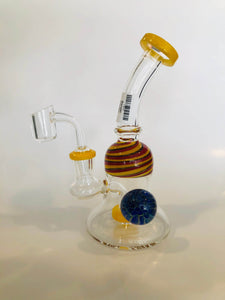 Rig with Showerhead Perc and UV Marble 8.2""