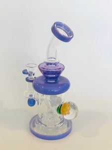 "Pulsar 7.5"" Teardrop Rig with Showerhead Perc and Marble"