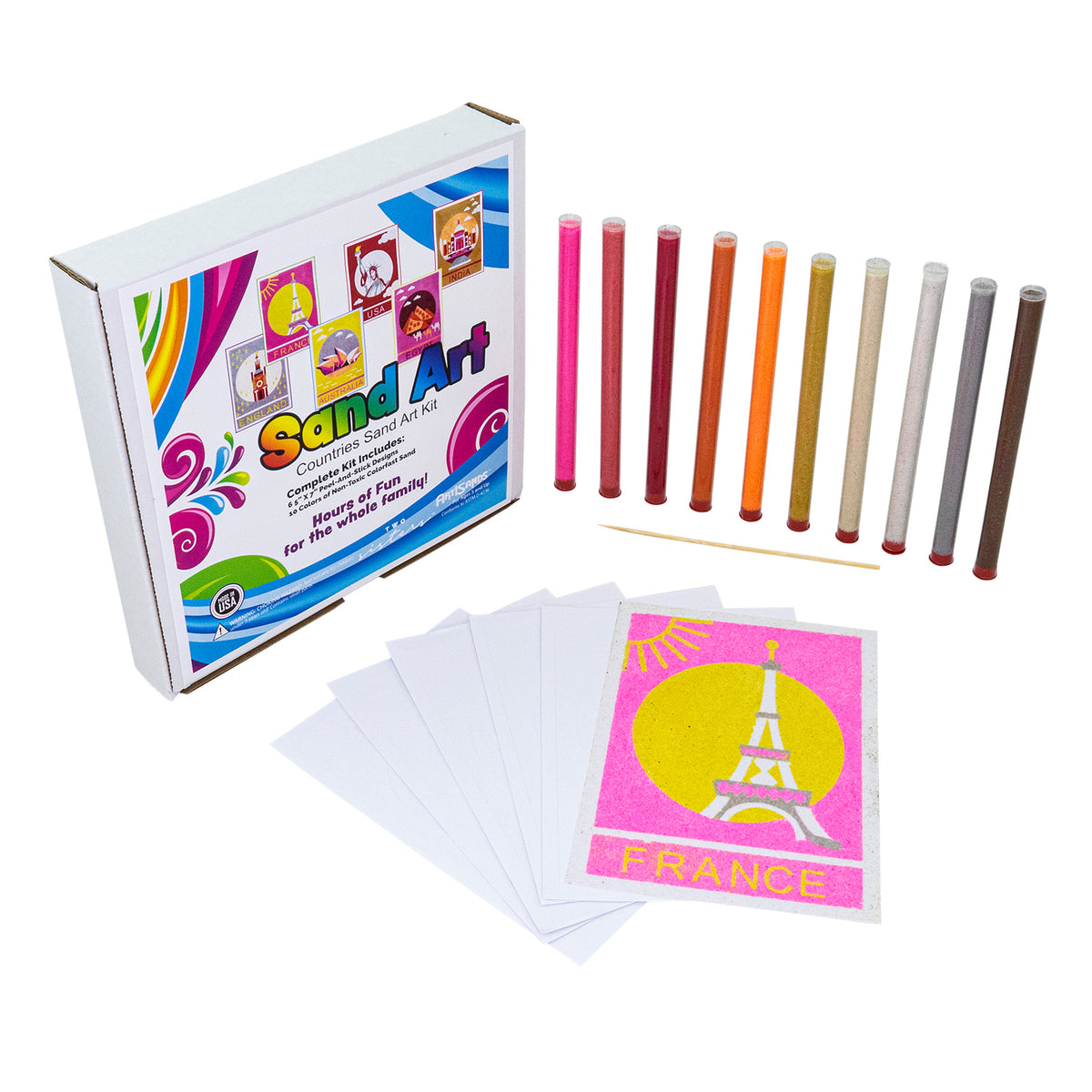 Countries Sand Art Kit