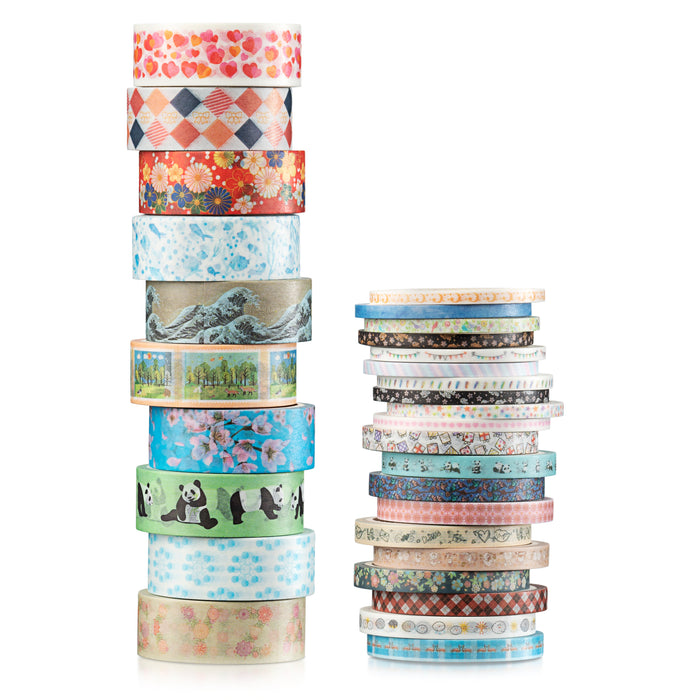 Two Sisters 30 Rolls of Washi Tape Kawaii Collection