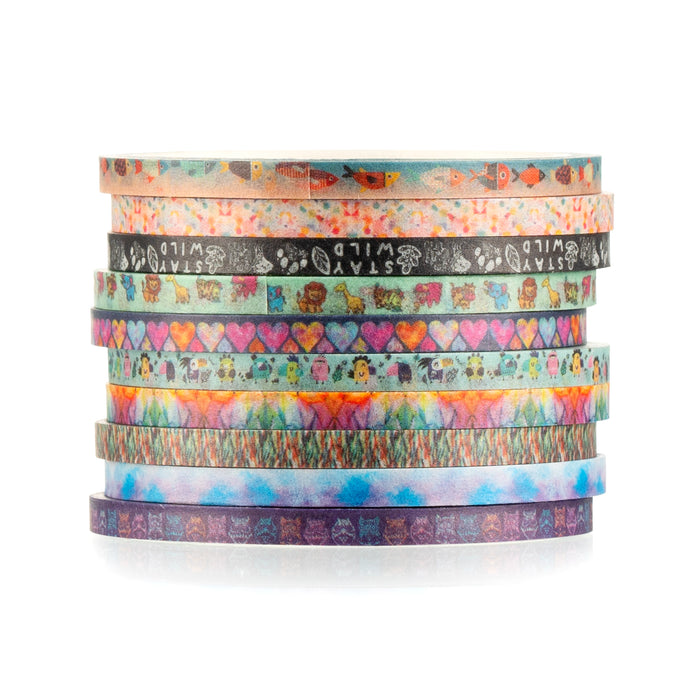 Two Sisters 3mm Paris Collection Washi Tape set of 10 rolls