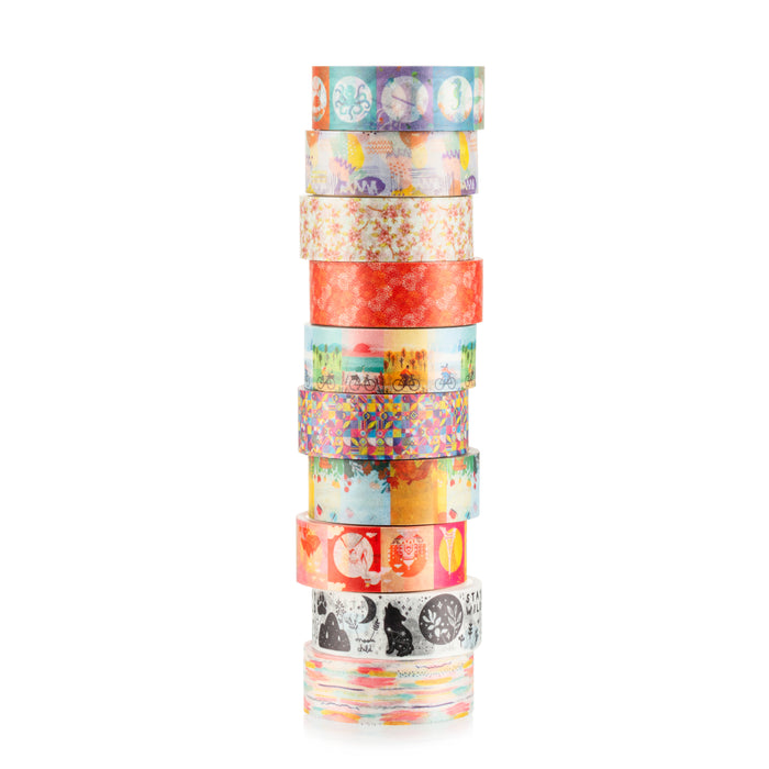 Two Sisters 15mm Paris Collection Washi Tape set of 10 rolls