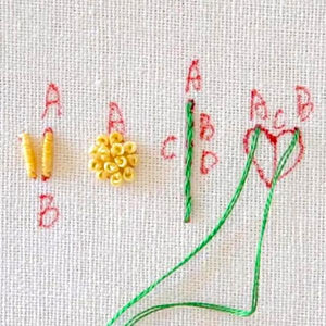 Trace n' Stitch Embroidery Pattern Guide