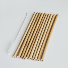 Load image into Gallery viewer, Bamboo Straw Set
