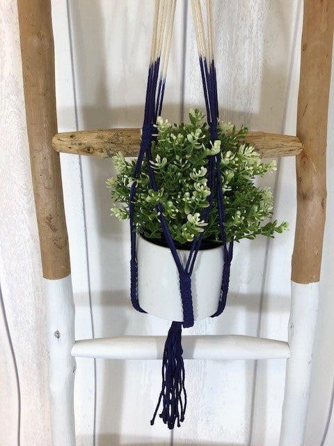 Macrame royal blue hanger