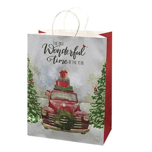 Red Truck Gift Bag Set