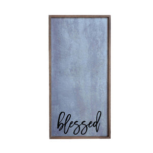 Blessed Galvanized Steel Wall Art