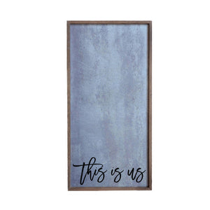 This is Us Galvanized Steel Wall Art