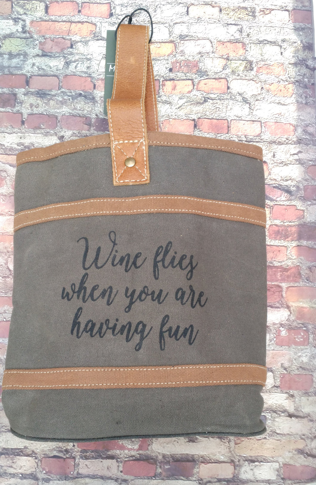 Myra Bag Handcrafted Double Wine Tote