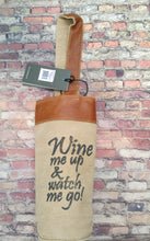 Load image into Gallery viewer, Myra Bag Handcrafted Wine Tote