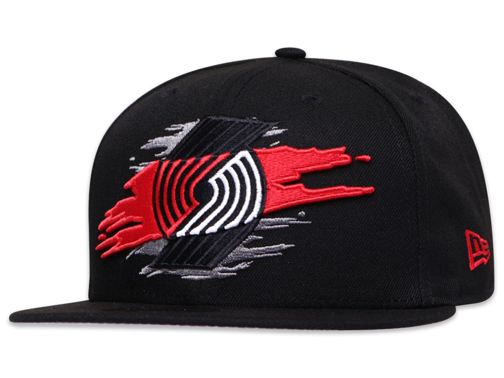 Portland Trail Blazers Official Team Color Logo Tear 9Fifty Snapback