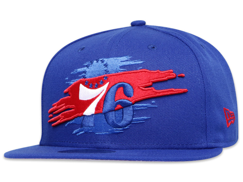 Philadelphia 76ers Official Team Color Logo Tear 9Fifty Snapback