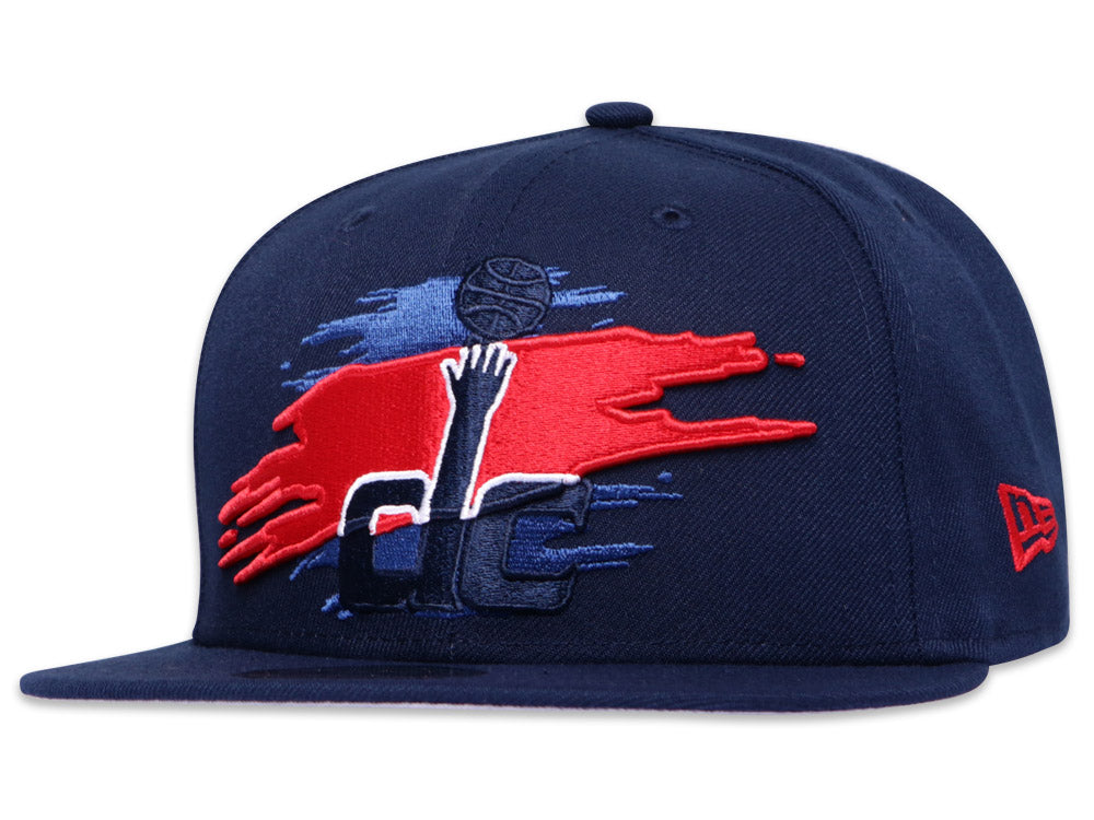 Washingon Wizards Official Team Color Logo Tear 9Fifty Snapback