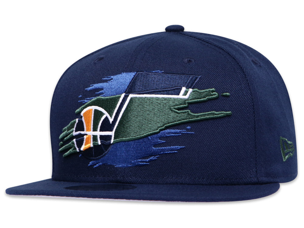 Utah Jazz Official Team Color Logo Tear 9Fifty Snapback