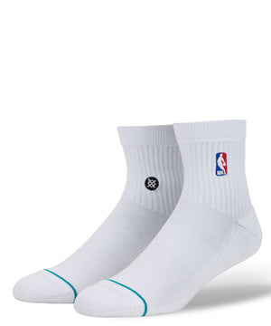 NBA Logoman Quarter Socks White