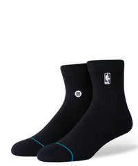 Logoman St Quarter Socks Black