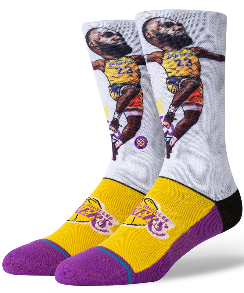 Lbj Big Head Crew Socks