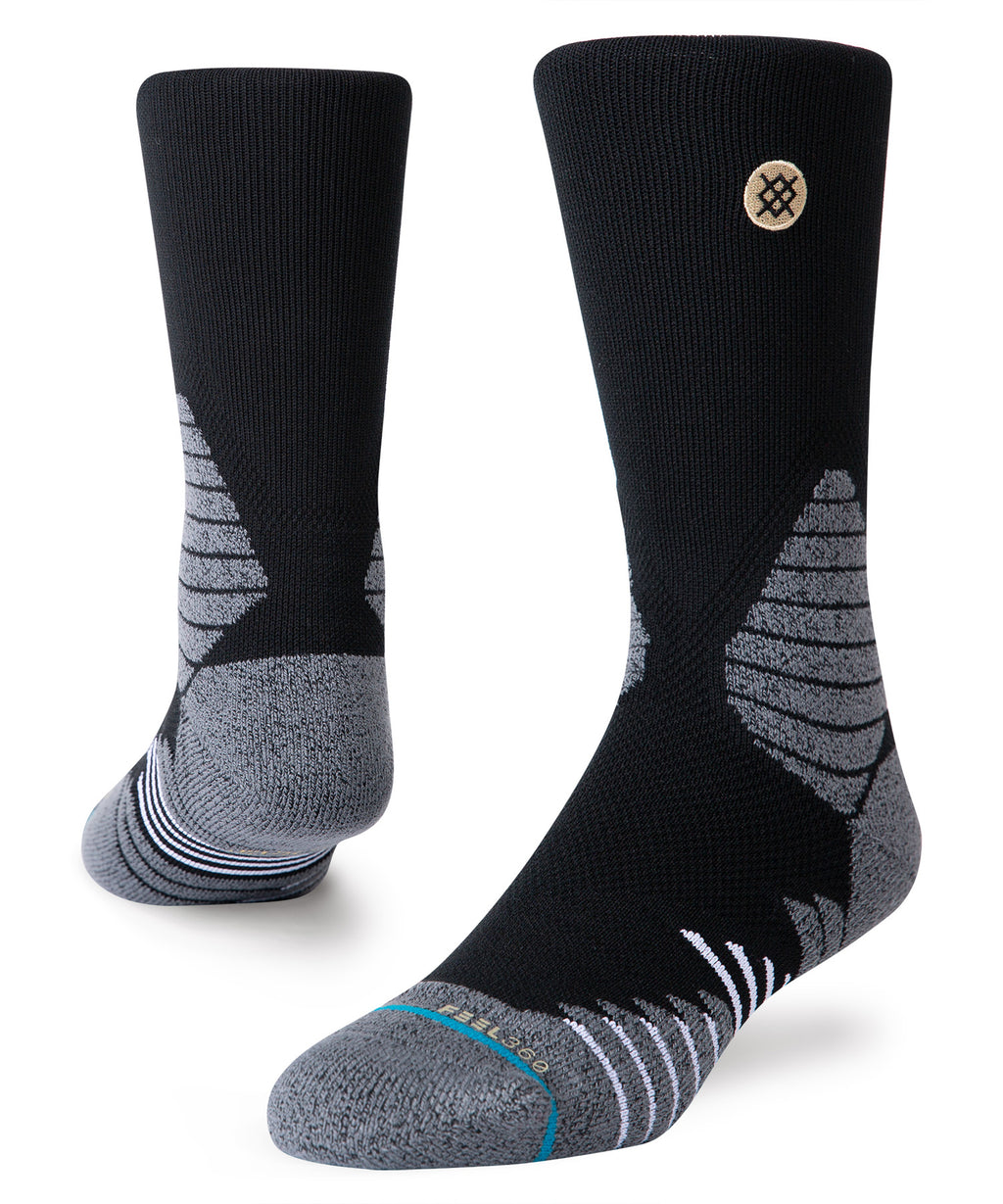 Icon Hoops Crew Socks Black