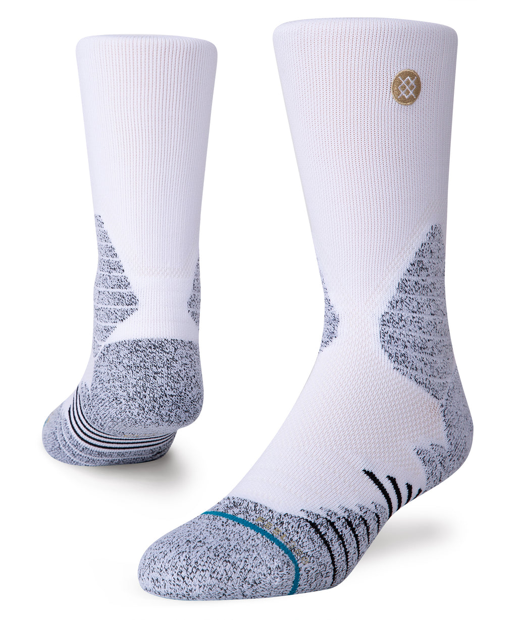 Icon Hoops Crew Socks White