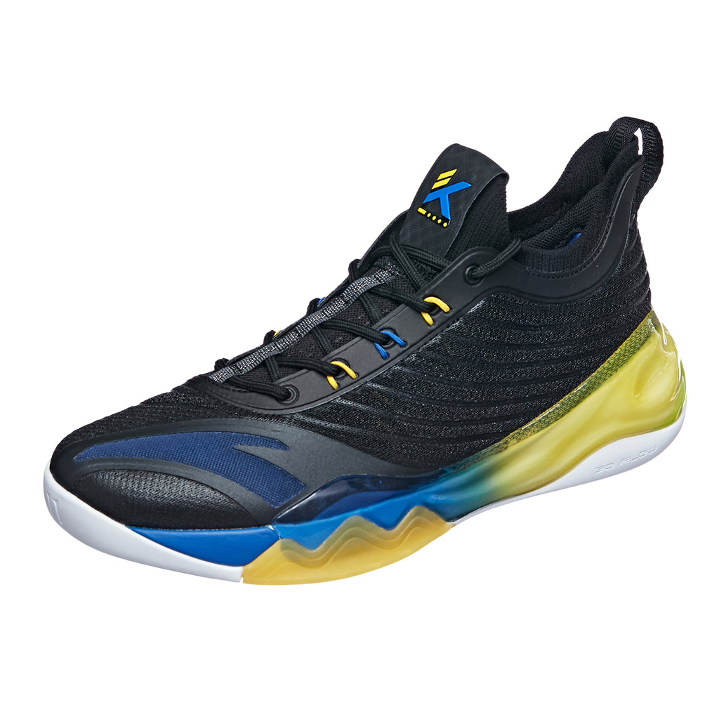 KT6 LOW Black/Light Yellow/Blue