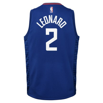 Grade School Big Boys Kawhi Leonard LA Clippers Nike Icon Edition Jersey
