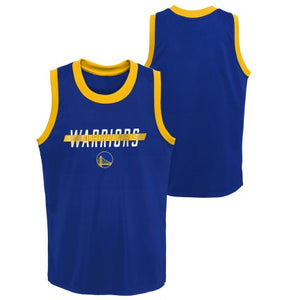 Grade School Big Boys Golden State Warriors In the Paint Shooter Tank
