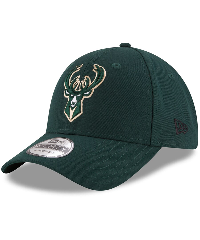 Milwaukee Bucks New Era Hunter Green Official Team Color 9Forty Adjustable Hat