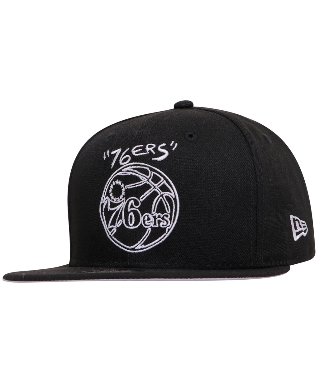 Philadelphia 76ers New Era Scribble DIY 9Fifty Adjustable Hat