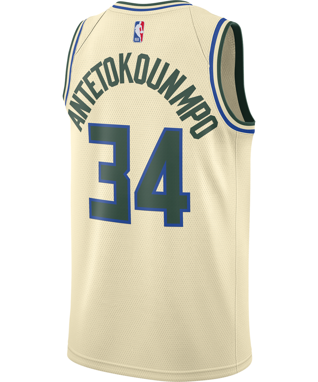 Giannis Antetokounmpo Milwaukee Bucks Nike City Edition Jersey 19/20