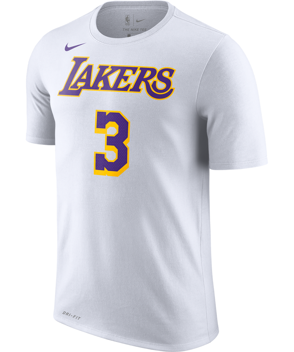 Anthony Davis LA Lakers Nike Association Edition Name and Number Tee