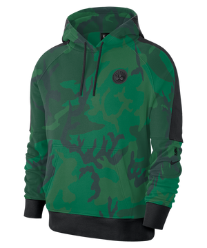 Boston Celtics Nike Camo Pullover Courtside Hoodie