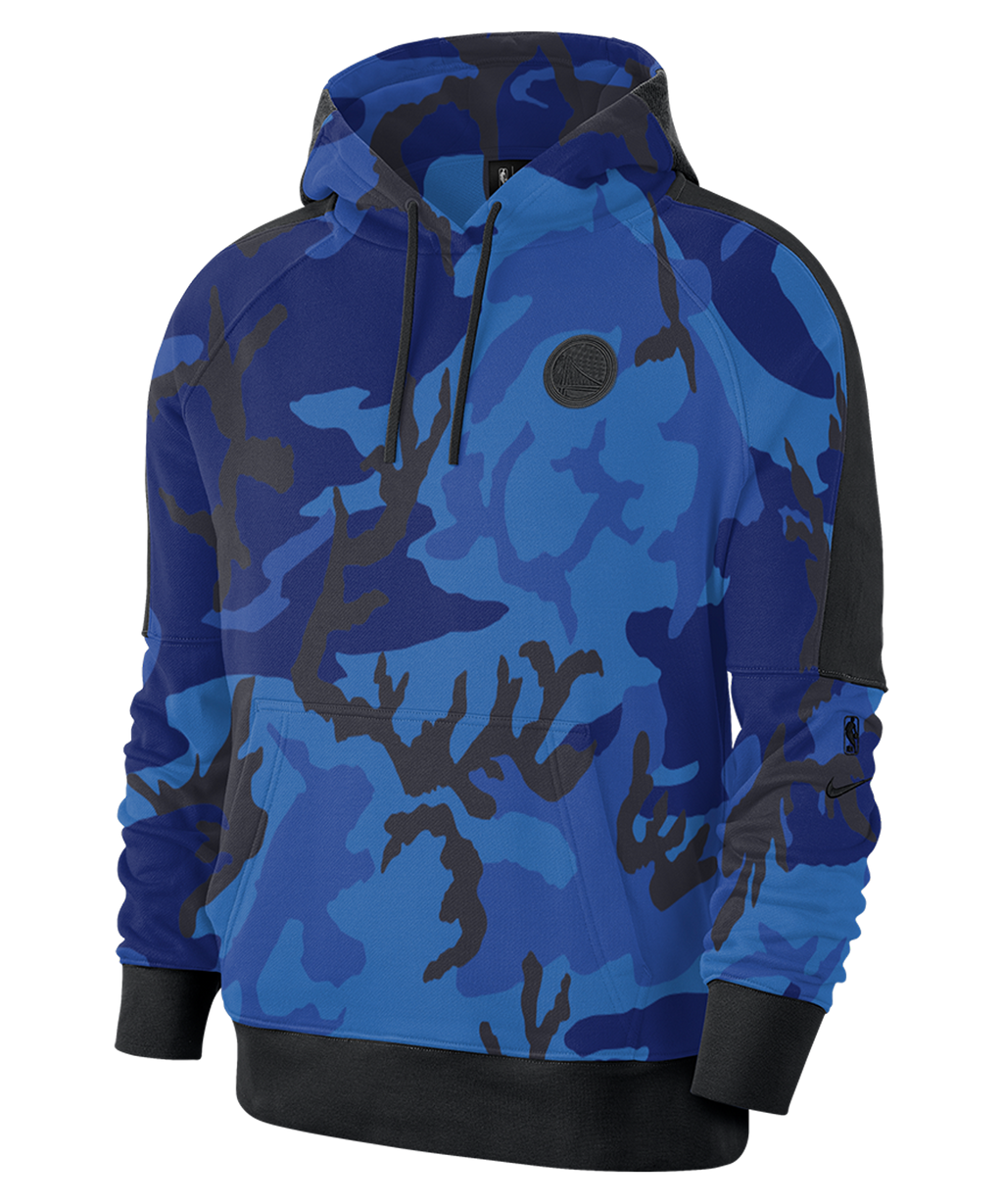 Golden State Warriors Nike Camo Pullover Courtside Hoodie