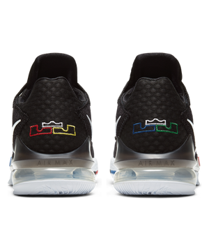 LeBron 17 Low Black/Multi-White