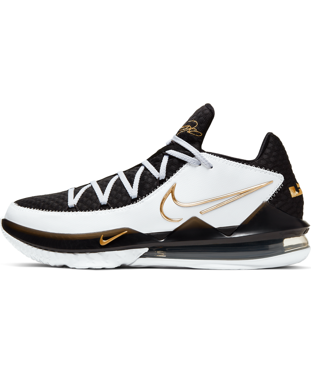 LeBron 17 Low White/Metallic Gold-Black