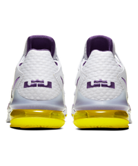 LeBron 17 Low White/Voltage Purple-Dynamic Yellow