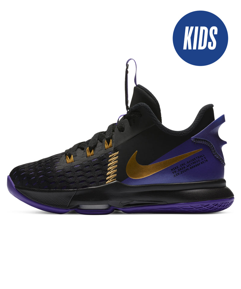 LeBron Witness V (GS) Black/ Metallic Gold-Purple