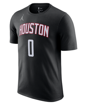 Russell Westbrook Houston Rockets Jordan Statement Edition Name and Number Tee