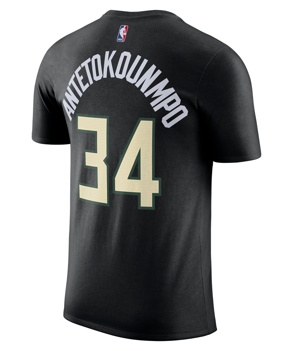 Giannis Antetokounmpo Milwaukee Bucks Jordan Statement Edition Name and Number Tee