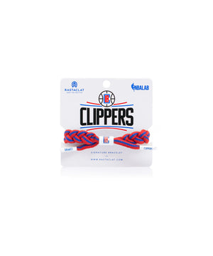 LA Clippers Rastaclat Braided Bracelet