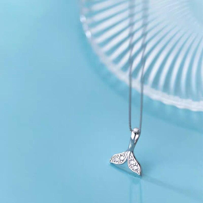 Mermaid Tail S925 Sterling Silver Necklace-necklace-Jiary