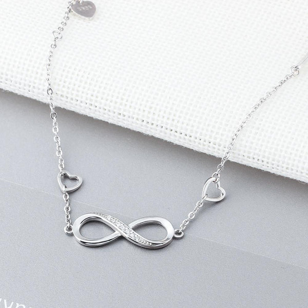 Infinite Love 925 Sterling Silver Bracelet Adjustable-Bracelet-Jiary