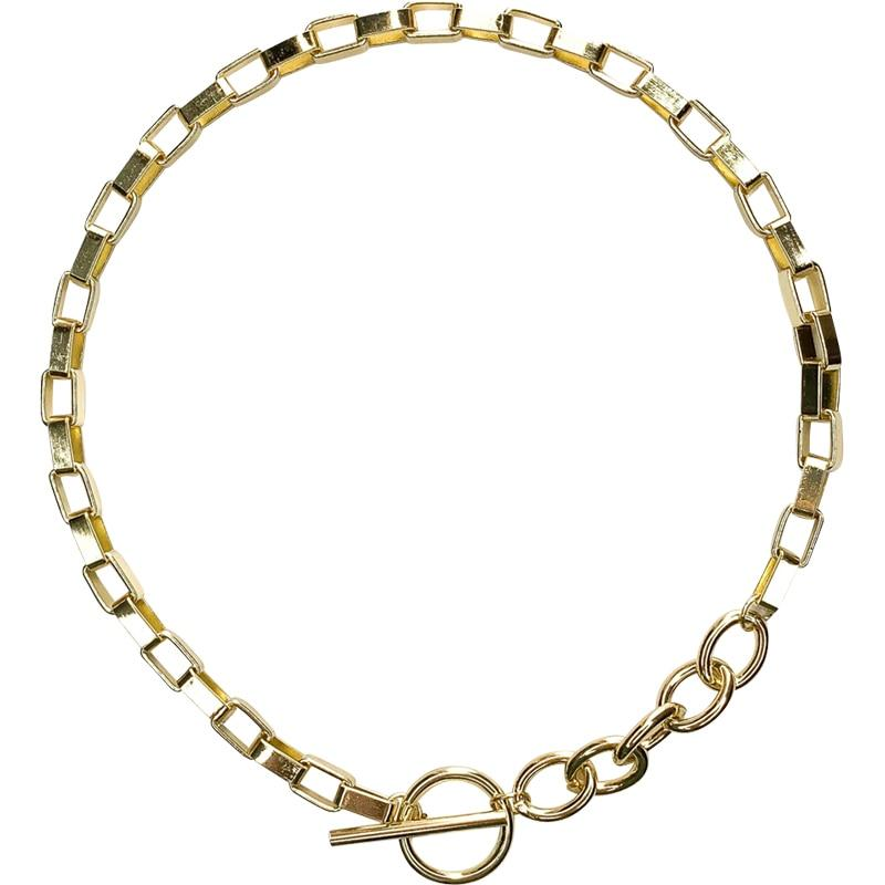Chain Toggle Clasp Gold Necklaces-Jiary