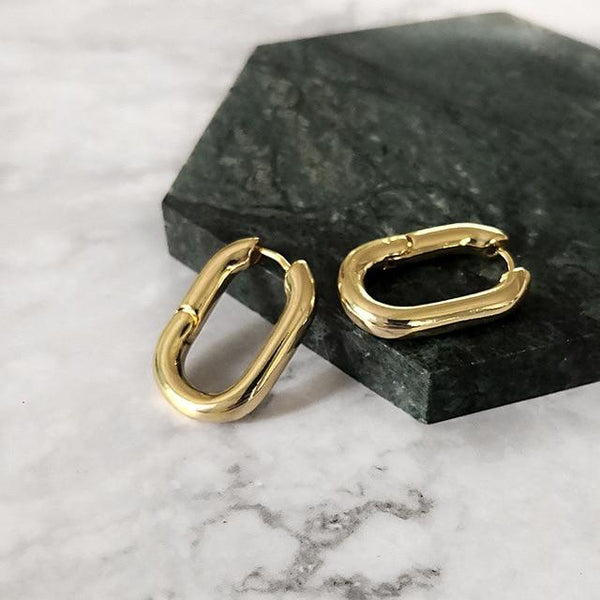 French Gold Chic Hoop Earrings-earrings-Jiary