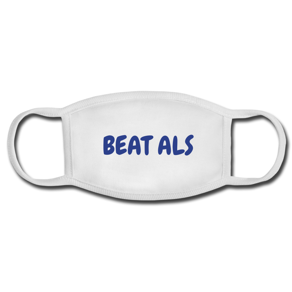 BEAT ALS FACE MASK - white/white