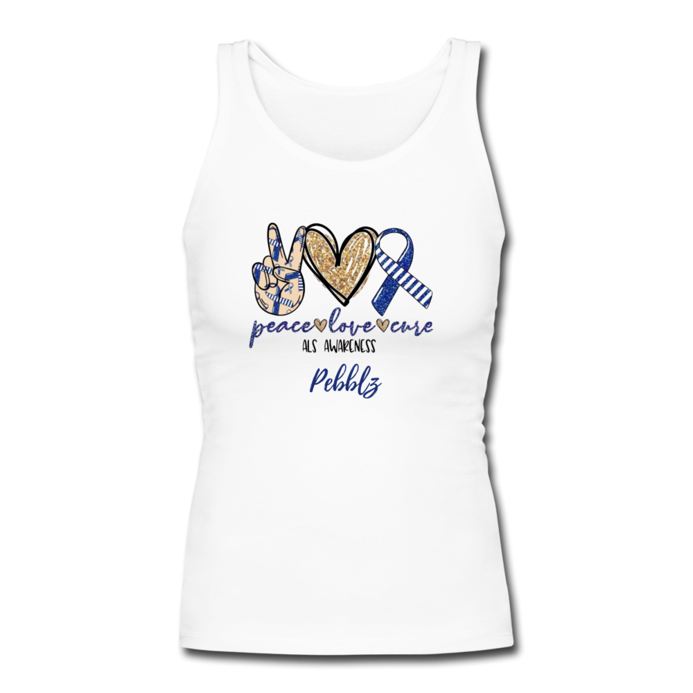 Peace, Love, Cure Tank - white