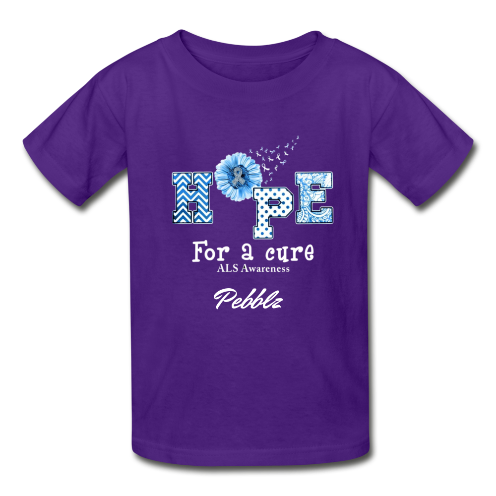 Youth T-Shirt - Hope For A Cure - purple