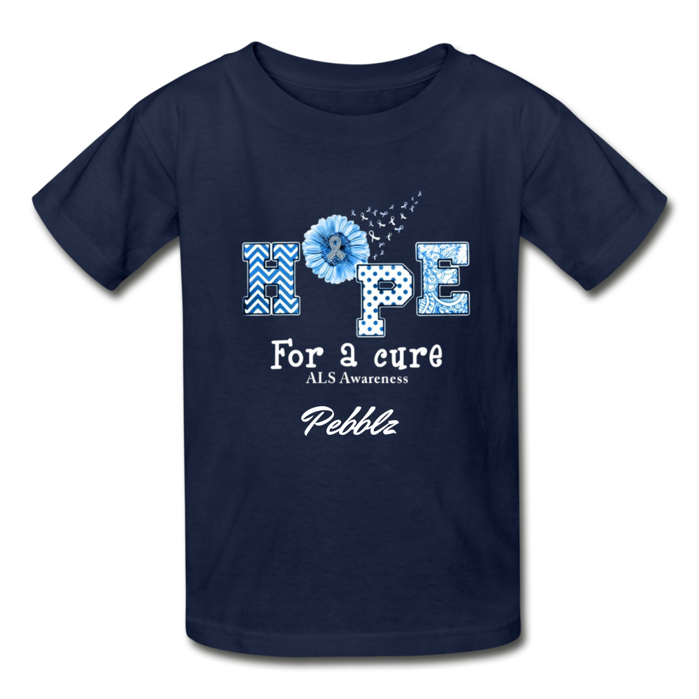 Youth T-Shirt - Hope For A Cure - navy