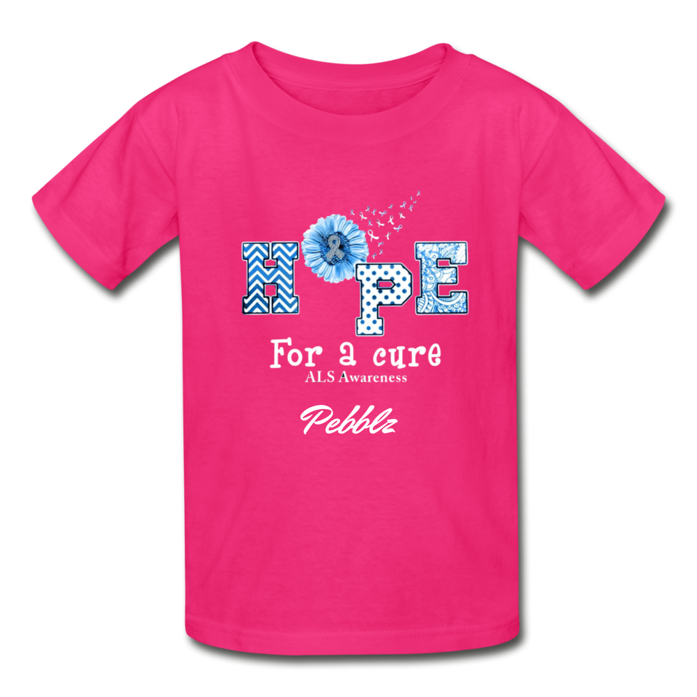 Youth T-Shirt - Hope For A Cure - fuchsia